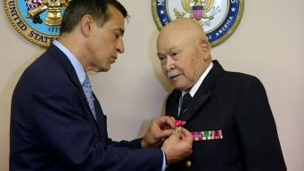 WWII Vet Gets Bronze Star Earned in 1945
