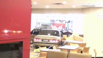 Car Crashes Into Wendy's After Driver Is Shot In the Head
