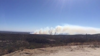 100-Acre 'Church Fire' Off SR-94 Now 75 Percent Contained