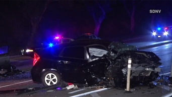 Cars Mangled in Head-On Crash