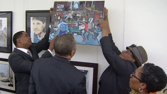 Artwork of Pig as Police Removed From Capitol Wall