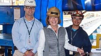 Congresswoman Cuts First Steel for Tanker