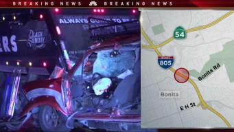 Driver Dies in Collision With Dump Truck on I805