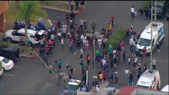 Crowds Gathering in Peace at Scene of El Cajon Shooting
