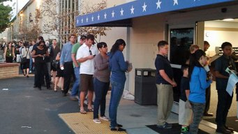 Record Number of Voters at Registrar's Office
