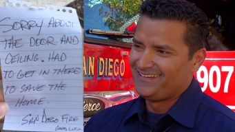 'Sorry About the Door': Firefighters Save Home, Leave Note