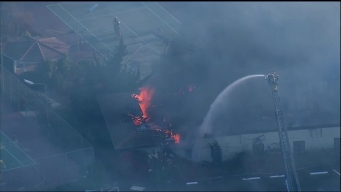Stubborn Flames Engulf Old Escondido Country Club
