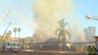 Crews Gaining Ground on Escondido Building Fire