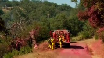 Fire Crews Monitor Black Fire