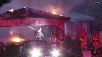 Fire Damages Skyline Garage