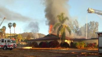 Fire Destroys Old Escondido Country Club