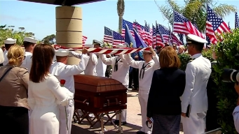 'He's Home At Last': Navy Pilot Buried at Ft. Rosecrans