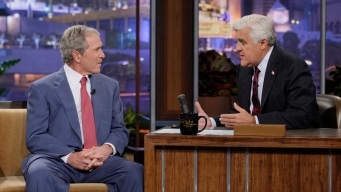 "Bush Shows His Paintings on ""Leno"""