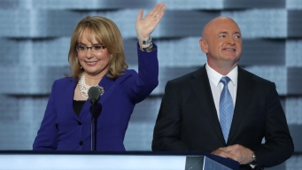 Shooting Survivor Gabby Giffords Gets DNC Ovation