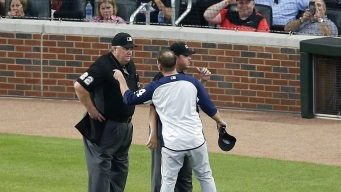 Padres Pound Braves After Green Gets Ejected