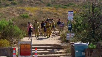 Hiker Injured and Rescued on Cowles Mountain