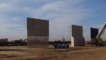 Illegal Border Crossings At Prototype Wall Construction Site