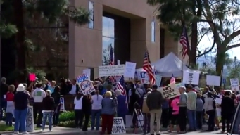 Groups Rally Outside Congressman's Office