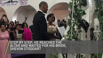 Hurt Olympian Walks at Wedding