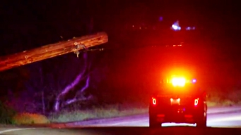 Lakeside Driver Crashes into Utility Pole