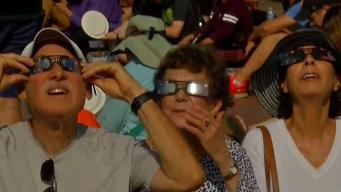 Locals Attend Solar Eclipse Viewing Party in Balboa