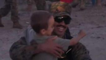 Marines, Sailors Reunite With Family After 8 Months