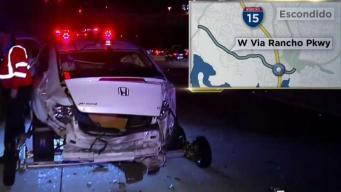 Multiple-Vehicle Crash on I-15 Near Via Rancho Parkway