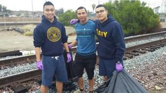 Sailors, Civilians Clean Up Naval Base