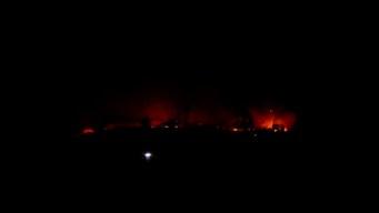 Fire Engulfs Vehicles at Otay Mesa Trucking Yard