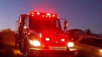Plane Crash in East County Sparks Brush Fire