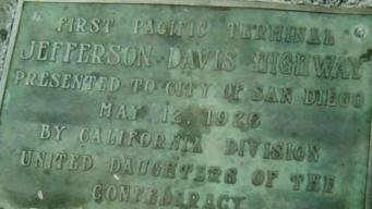 Plaque with Confederate President Name Removed