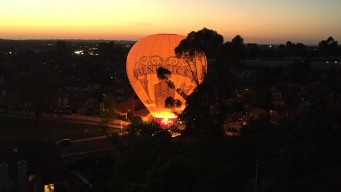 Hot Air Balloon Lands in RP Neighborhood
