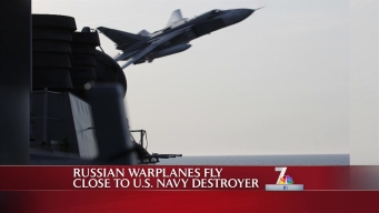Russian Warplanes Fly Dangerously Close to U.S. Navy Destroyer