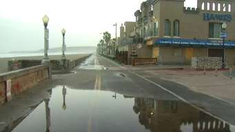 Mission Beach Storefronts Brace for Storm's Second Wave
