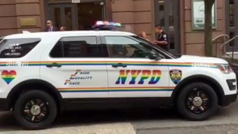 NYPD Rolls Out Rainbow SUV to Support Orlando Victims