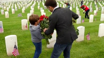 30,000 Roses Placed at Fort Rosecrans Graves