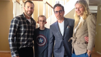 Avengers Stars Visit Local High School Student
