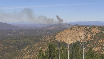Fire Reported Along I-8 in Alpine