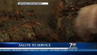 Salute to Service: Marines Deployed to Forward Operating Base Erevdi