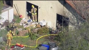 Man Found After Foreclosed 'Hoarder House' Burns