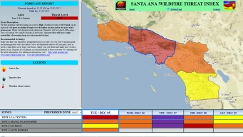Santa Anas, Increased Fire Risk Has Southern California on Edge