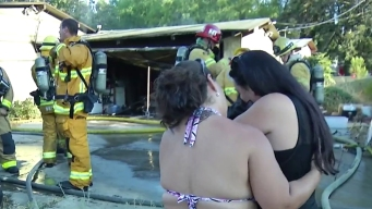 Firefighters Rush to Rescue Pets in Santee Fire