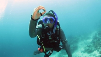 Boy, 12, Becomes Master Scuba Diver