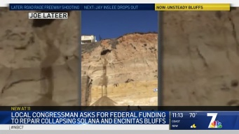 Video Shows Solana Beach Bluff Crumbling Away Into Pile of Sand