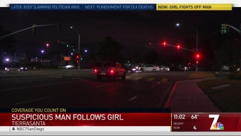 Man Follows Tierrasanta Girl: Police