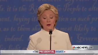 Trump and Clinton Debate Gun Control