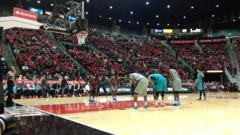 Red-Hot Aztecs Win In Turquoise