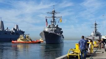 Navy Destroyers Depart on 7-Month Deployment