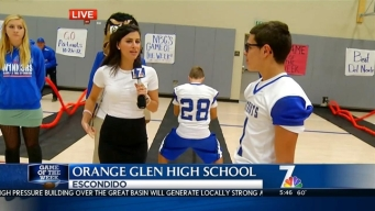 GOTW - NBC 7's Megan Tevrizian At Orange High School Part 2