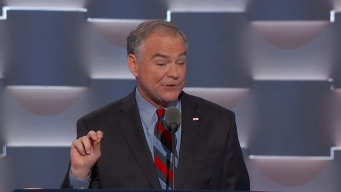 Time Kaine Speaks at the Democratic National Convention